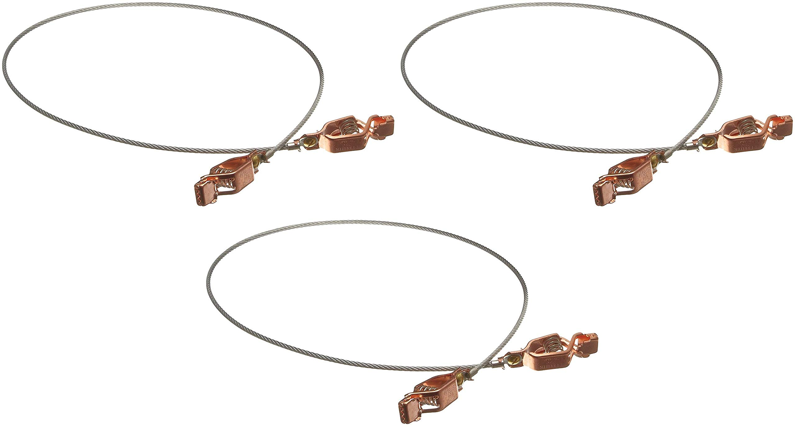 Justrite 08500 3' Long Flexible Bonding Wire with Two Clips (Pack of 3)