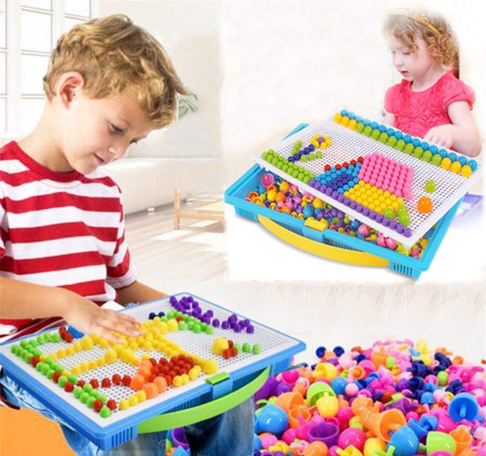 ff7a5d6fa0f3f Creative Mosaique Puzzle 296pcs Bloc de Construction Magnétique Jeu de Construction  Colorée Jouet Educatif DIY Assortiment de Couleur Cadeau de Noël ...