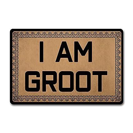 Antislip Mat Groot.Amazon Com Chxcq Outdoor Door Mat I Am Groot Doormat Funny