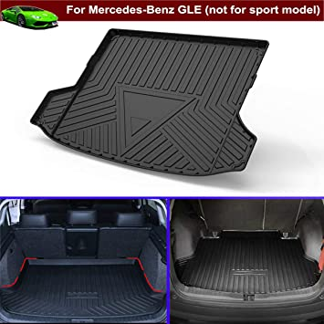 All Weather Cargo Liner Floor Mat Black for Mercedes-Benz GLE 2016 2017 2018