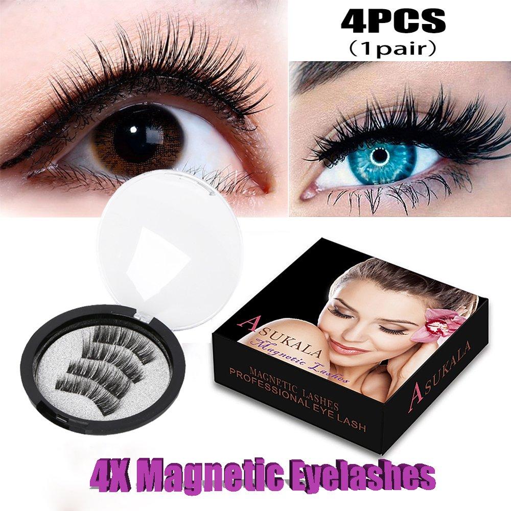 Dual magnetico senza colla ciglia Best 3D ciglia finte riutilizzabili falso ciglia estensioni di tutta la palpebre per look naturale (4pz) ZFITEI01
