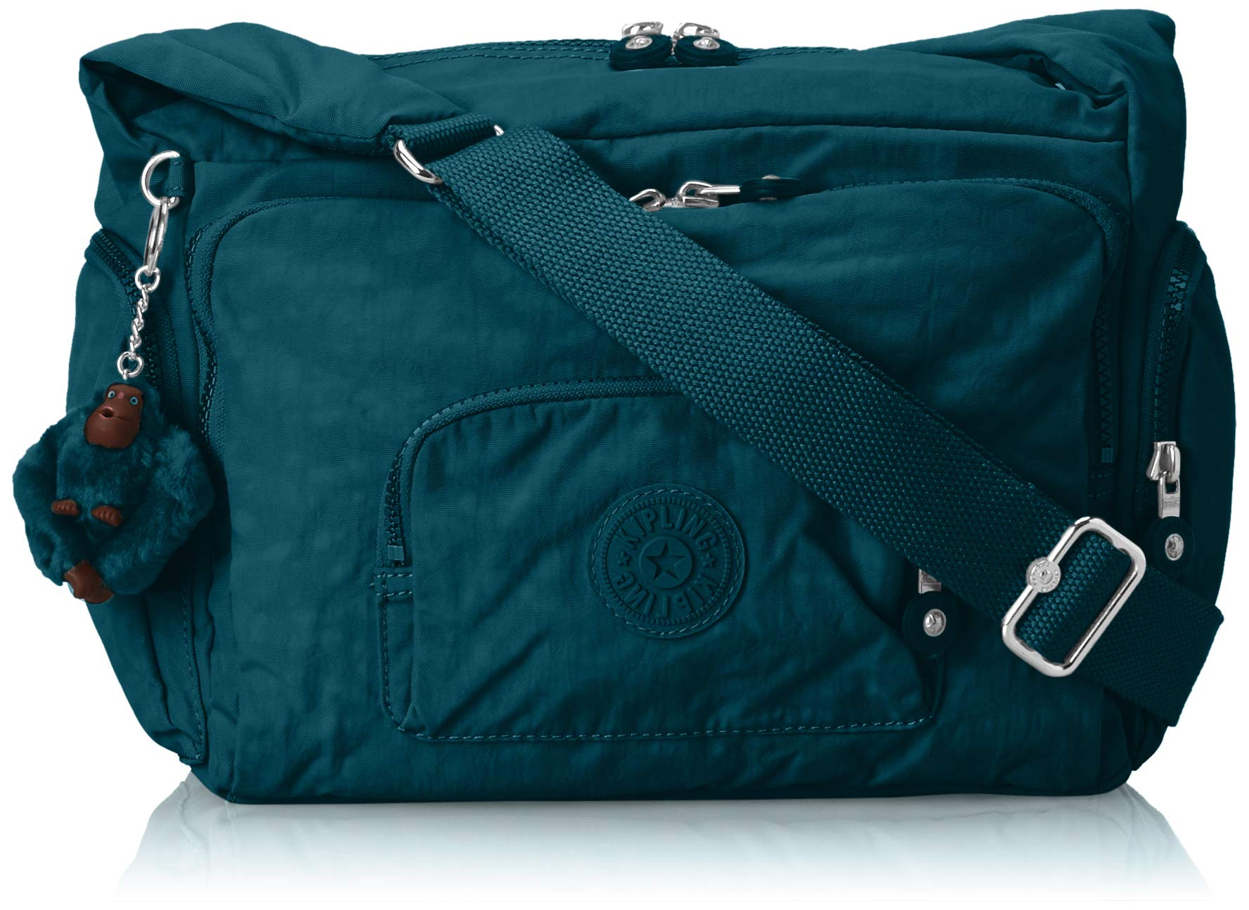 Kipling Erica Solid Crossbody Bag,  Gleaming Green, One Size