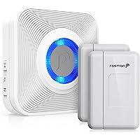 Fosmon Wavelink Wireless Door Open Chime (120M/400ft, 58 Tunes, 5 Volume Levels) with 2 Magnetic Entry Contact Sensor, 1…