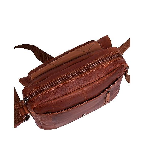 30cc16eaae0 The Chesterfield Brand Raphael Cross Body Bag 11? cognac: Amazon.co.uk:  Clothing