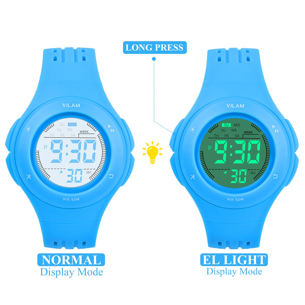 8e34ceeea6a Kid Watch Sport Water Resistance Multi Function Digital Wristwatch for Boy  Girl Children Gift Outdoor ...