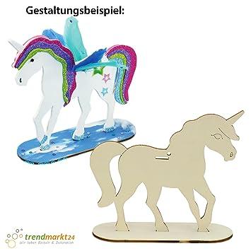 Trendmarkt24 Einhorn Pony Pferde Deko 2er Set Ca 17 Cm X 16