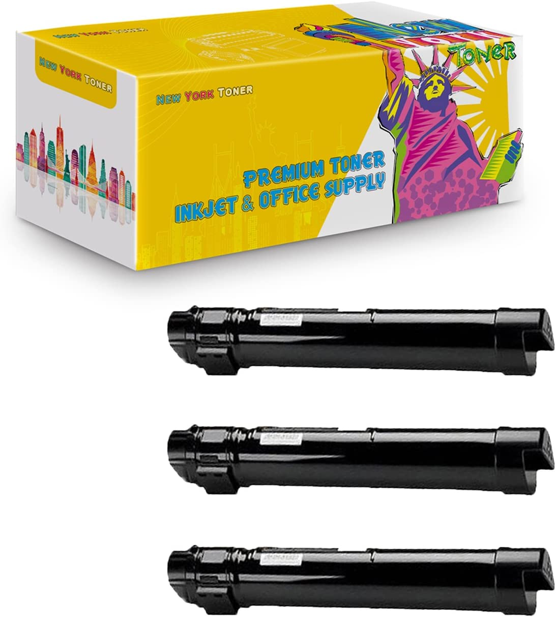 New York TonerTM New Compatible 3 Pack Xerox 106R01439 High Yield Toner for Xerox Phaser Black 7500