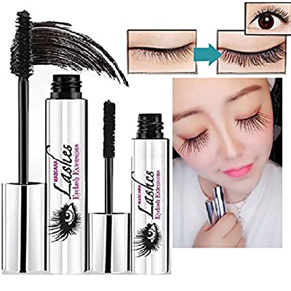 Iusun 4D Mascara Cream Waterproof Makeup LashCold Mascara Eyelash Extension Eye Black Crazy-long Style