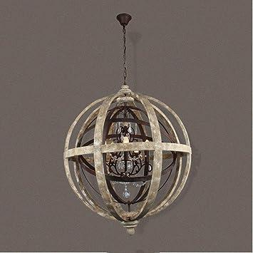 BJVB Retro industrial vigas de madera antigua luces colgantes Hotel obras arañas antiguo barco vigas de