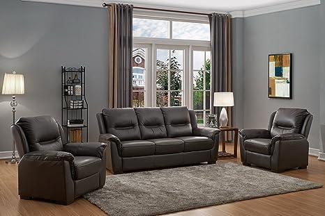 SC Furniture Ltd Chocolate Marrón Cuero Auténtico De Alta ...