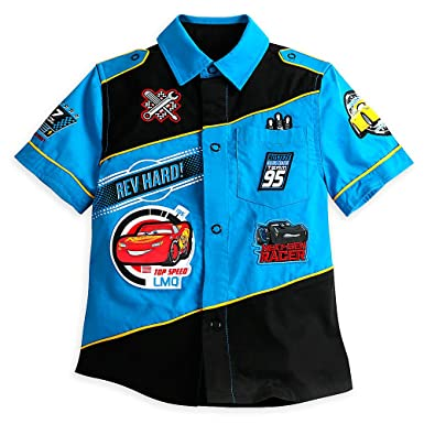 Amazon.com  Disney Cars 3 Woven Shirt for Boys Size 4  Clothing 1df88cf7e