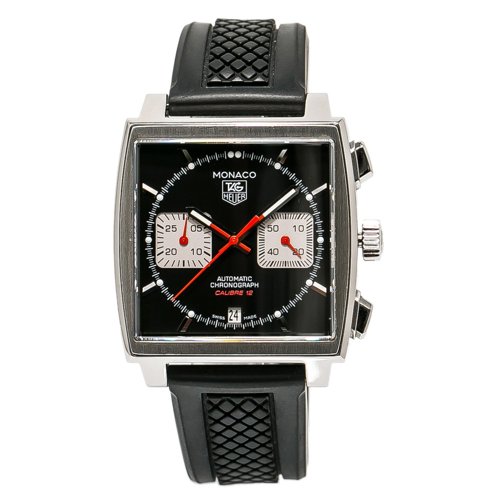Tag Heuer Monaco swiss-automatic mens Watch CAW2114 (Certified Pre-owned)
