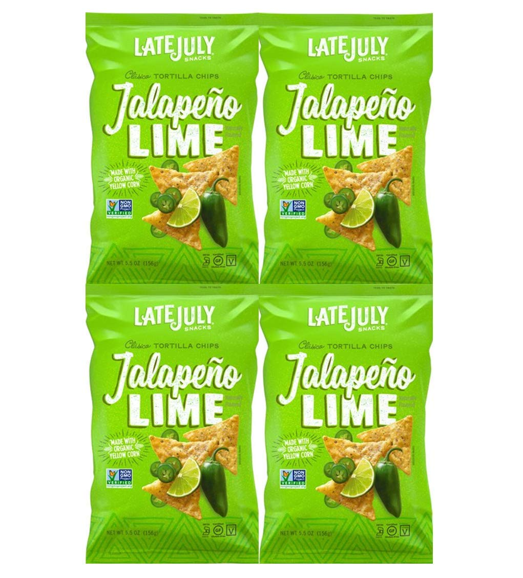 LATE JULY   Tortilla Chips   Organic and Gluten Free   Clasico, Jalepeno Lime [ by Late July