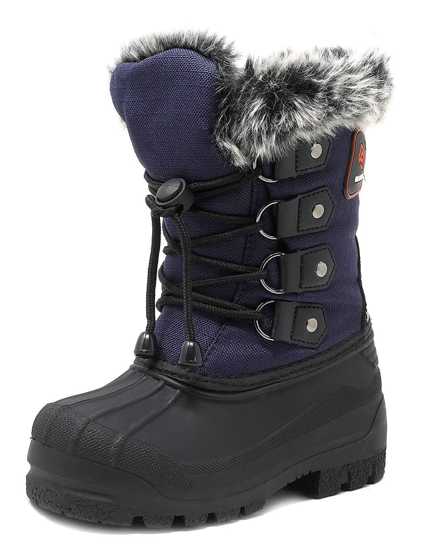 DREAM PAIRS Little Kid Maple Navy Knee High Winter Snow Boots Size 12 M US Little Kid
