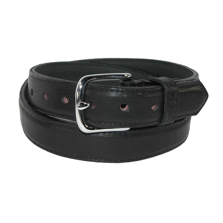 Boston Leather Mens Big /& Tall Bison Leather Dress Belt