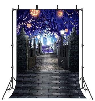 Amazon.com: Fondo para Halloween, árbol anfitrión, calabaza ...
