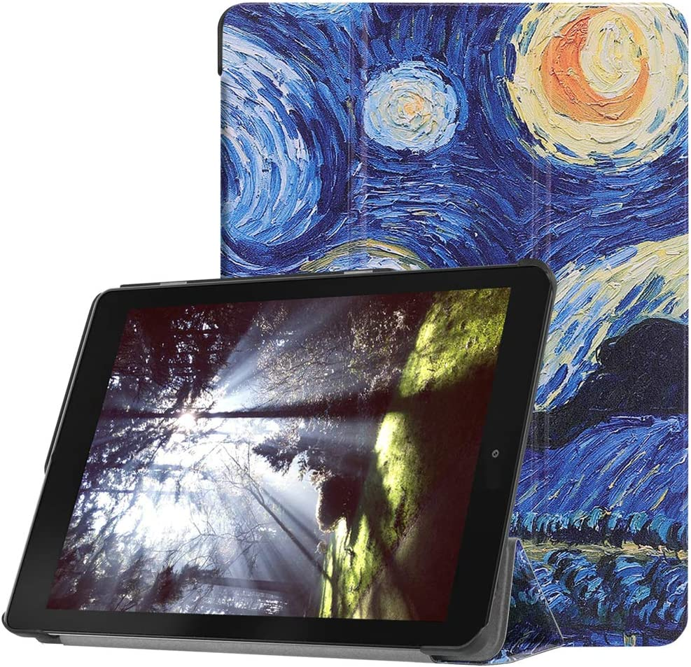 "for Acer Chromebook Tab 10 9.7 inch Tablet Cover, Ultra Slim Folio Stand Lightweight Leather Case for Acer Chromebook Tab 10 D651N 9.7"" (Starry Sky)"