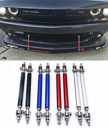 2pcs Adjustable Front Bumper Lip Splitter Strut Rod Tie Support Bar For Dodge