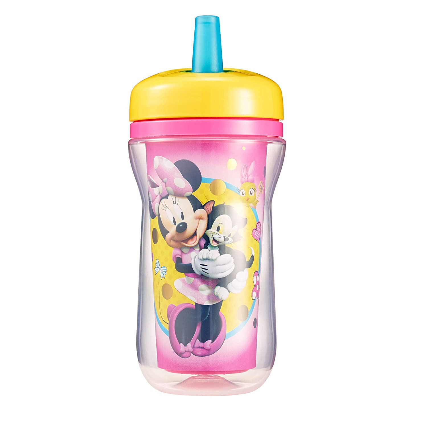 The First Years Disney Insulated Straw Cup, Minnie Mouse, 9 Ounce