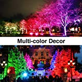 Onforu 2 Pack 60W Color LED Flood Lights, RGB LED