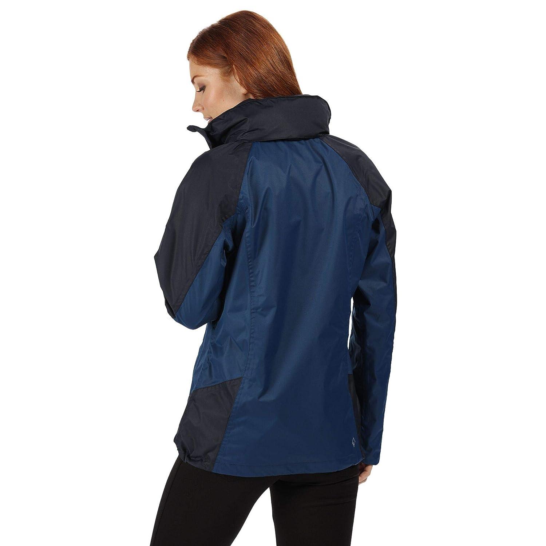 Impermeable y Transpirable, con Capucha Chaqueta de Senderismo para Mujer Regatta Calderdale III