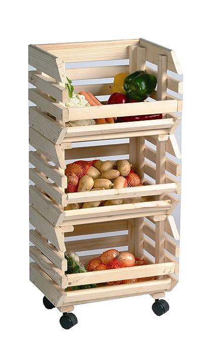 Cajas de almacenamiento cajas de fruta patata caja apilable pequeño A cajas de madera de pino