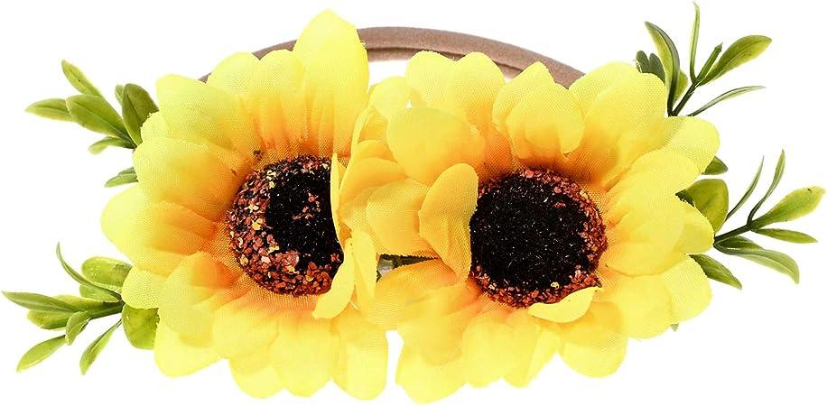 Sunflower headband summer baby headband yellow flower headband yellow baby headband baby sunflower headband sunflower baby headband