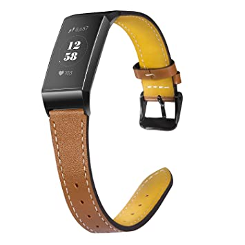 Wearlizer Für Fitbit Charge 3 Armband Leder Lederarmband Leder Armbänder Unisex Ersatzband Für Fitbit Charge 3