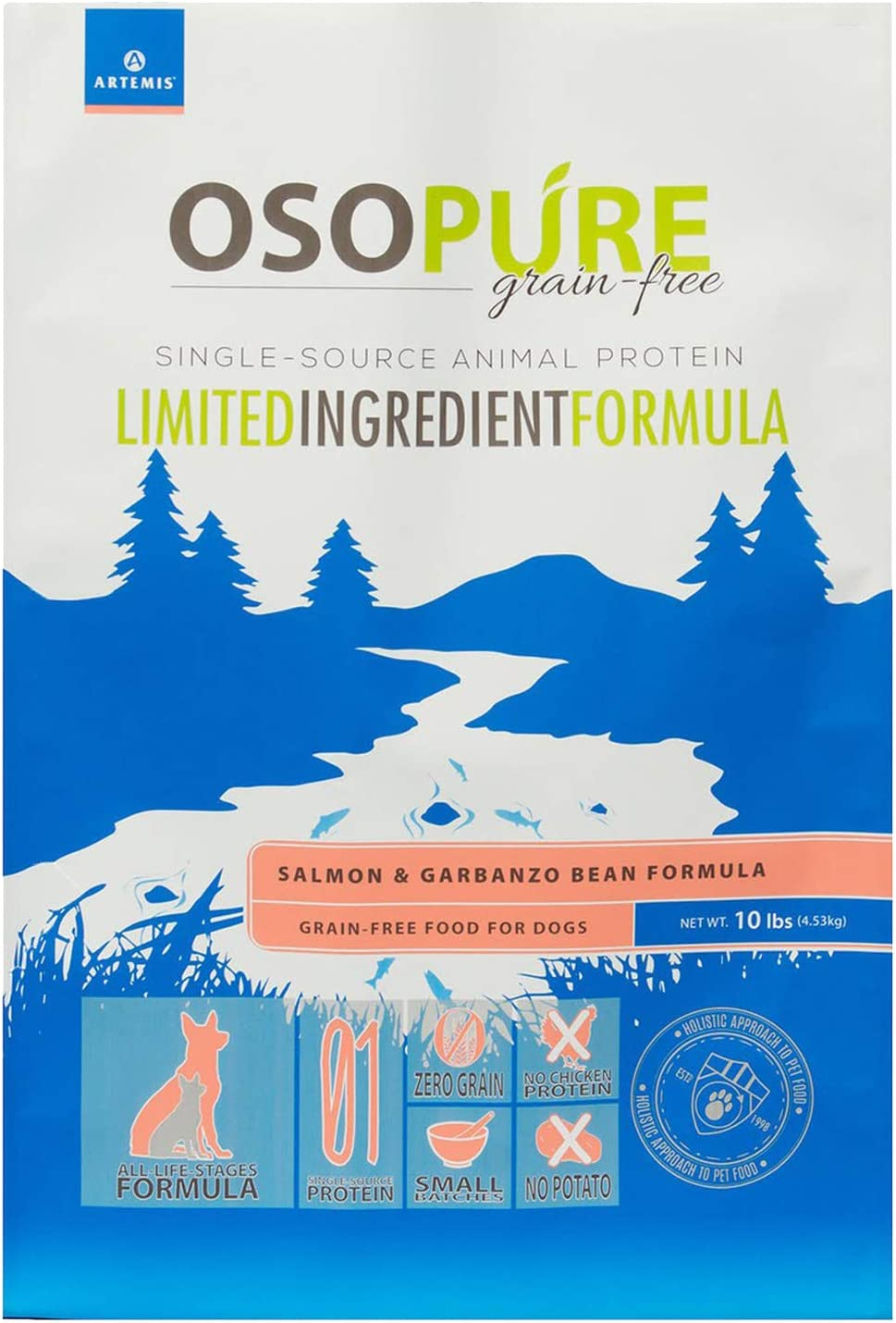 Artemis OSOPURE Grain Free Salmon & Garbanzo Bean Dry Dog Food