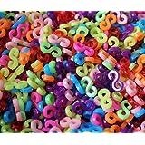 ETHAHE Loom Bands Recharge de 100 S-Attaches Multicolores pour Bracelets Elastiques avec 100 S-Attaches Transparentes Gratuites