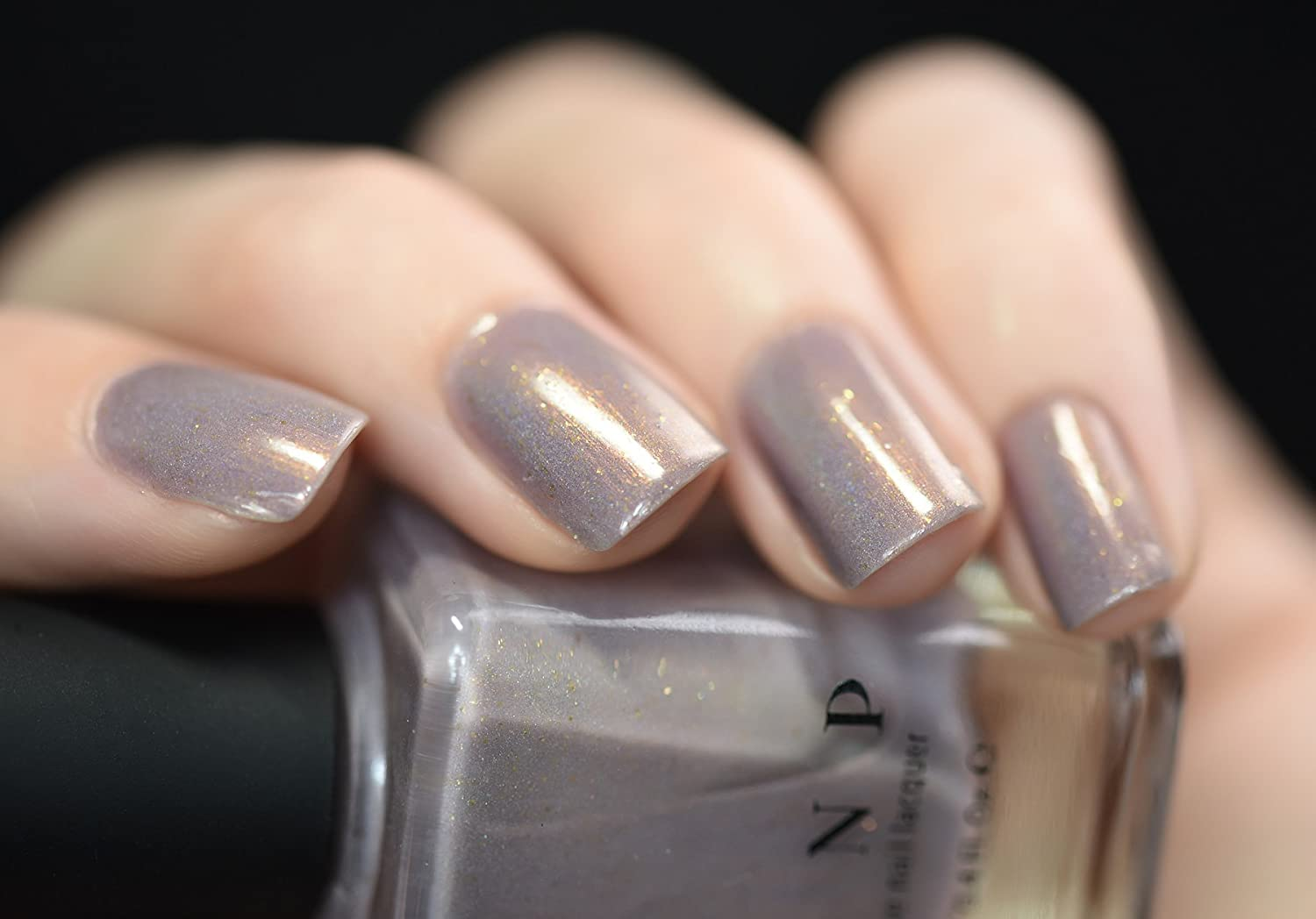Amazon.com : ILNP Long Walks - Shimmery Taupe Holographic Nail ...