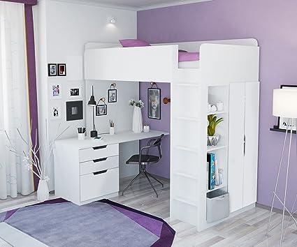 Letto A Castello Ikea Bianco.Polini Kids Bambini Letto A Castello Letto A Soppalco Combinazione
