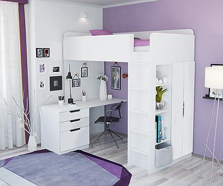 Istruzioni Montaggio Letto A Castello Ikea.Polini Kids Bambini Letto A Castello Letto A Soppalco Combinazione