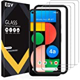 [3 Pack] EGV Compatible with Google Pixel 4a 5G 6.2-inch, Tempered Glass Screen Protector [NOT Compatible with Pixel 4A 4G 5.