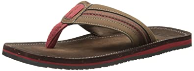 f4266a75aaee1 Clarks Men's Riverway Sun Flip-Flop, Brown, 10 M US: Buy Online at ...