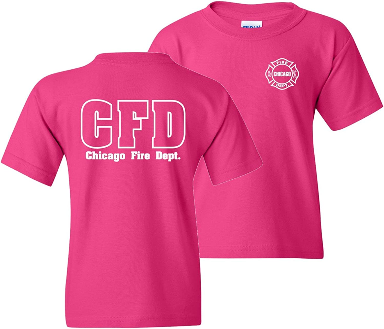 Chicago Fire Department Maltese Cross Youth 2-Sided T-Shirt