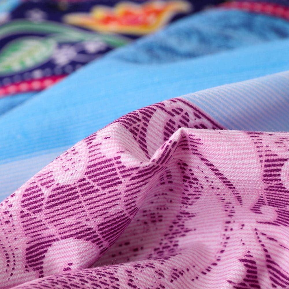 Bohemian-Dekoration Marokko amerikanischer Landhausstil wendbar Steppdecke mit 4 B/ändern indisch S/üdwestern Boho-Bettbezug im Ethno-Stil weich Tribal-Bettw/äsche-Kollektion bunt