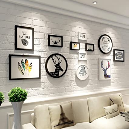 Amazon.com - Living Room Sofa Decoration Painting, Solid Wood Frame ...