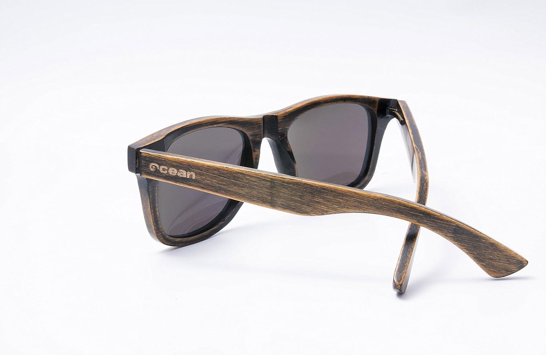 OCEAN SUNGLASSES wood Victoria - lunettes de soleil polarisÃBlackrolles en Bambou - Monture : Noir - Verres : Revo Vert (53002.1) 8ACt0nPbUf