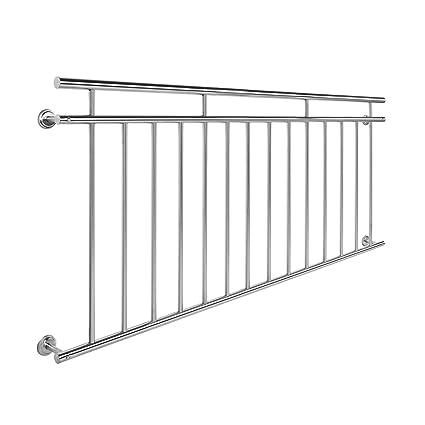 Juliet Balcony Railing 90x184cm Stainless Steel Metal Balustrade