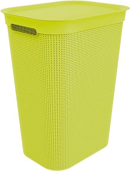 Verde Rotho Brisen Cesto portabiancheria con Coperchio plastica 43 x 34 x 53 cm 50 Liter PP 50 l