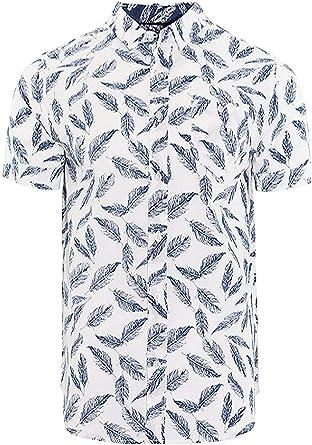 Brave Soul - Camisa Casual - Camisa - Paisley - Clásico - Manga Corta - para Hombre: Amazon.es: Ropa y accesorios