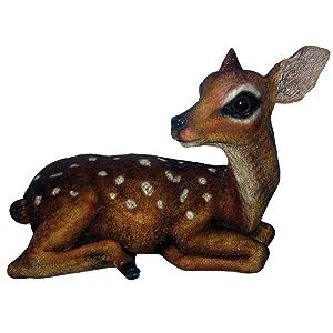 Michael Carr 508004B Deer Fawn, Medium, Brown/White