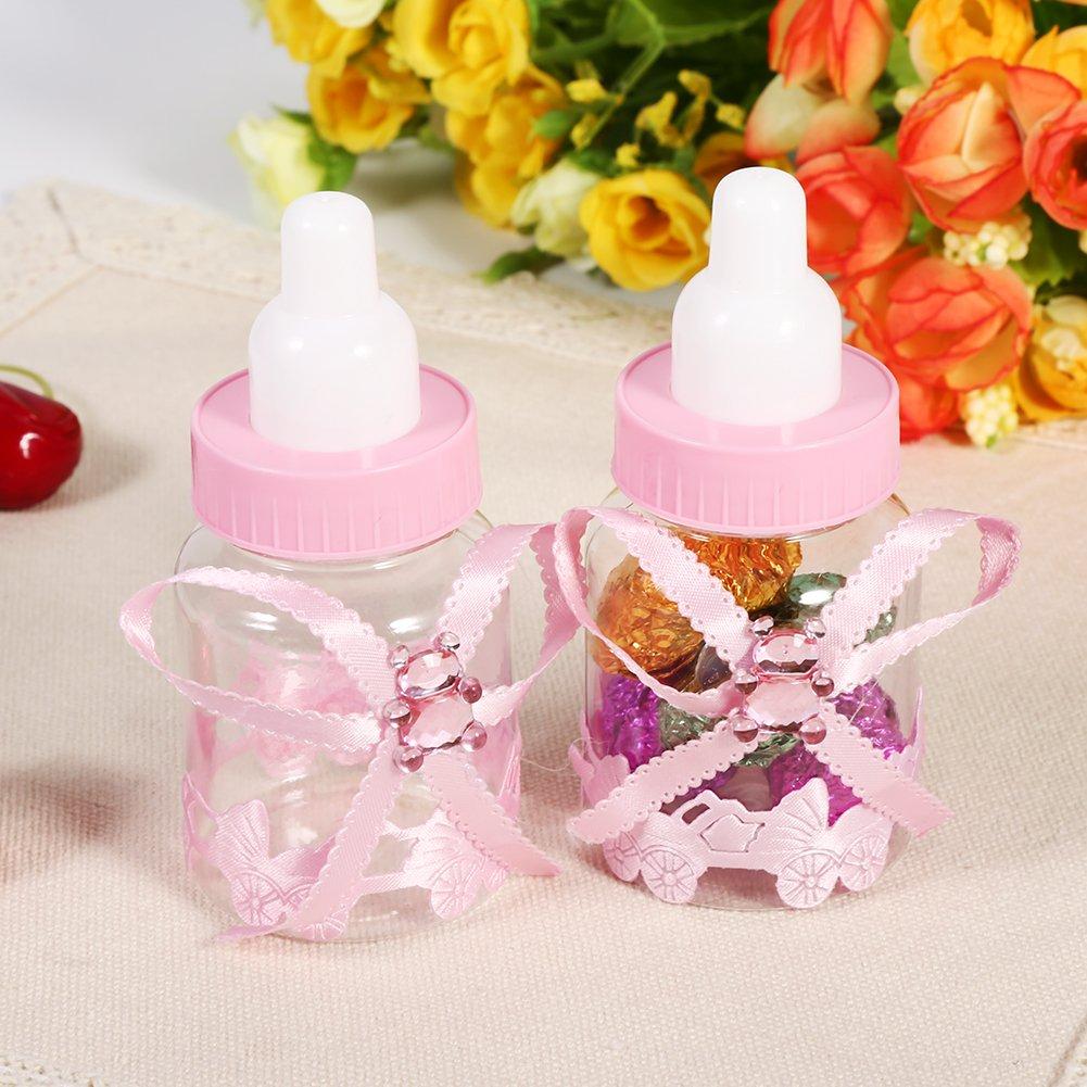 GOTOTOP 50pcs Caja de Botellas de Chocolate Caramelo para Fiesta de Bienvenida al Bebé Favorece Decoraciones de Regalos (Rosado): Amazon.es: Juguetes y ...