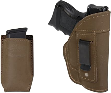 NEW Barsony Brown Leather Double Magazine Pouch Smith /& Wesson Full Size 9mm 40