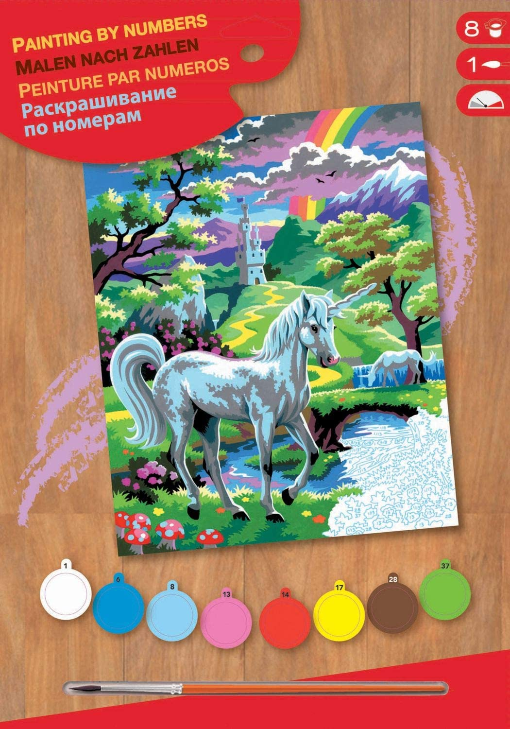 K S G PAINT BY NUMBERS 14 SETS TO CHOOSE FROM