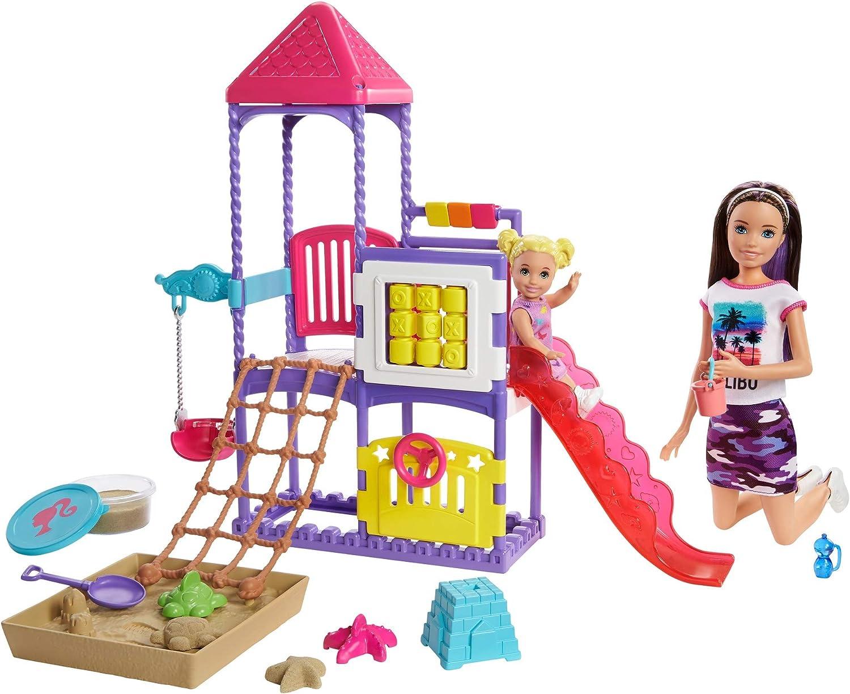Barbie Skipper Babysitters, Inc. Climb 'n Explore Playground Dolls and Playset