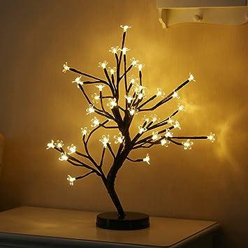 Ledmomo Arbre Fleur De Lumiere Lampe De Lumiere Lampe De Bureau