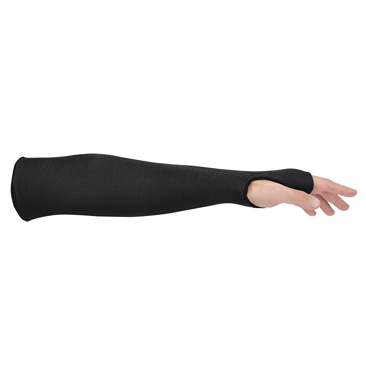 Sold By The Each 14 with Thumbslot Cut Resistant Black Kevlar Sleeve Thermal Protection
