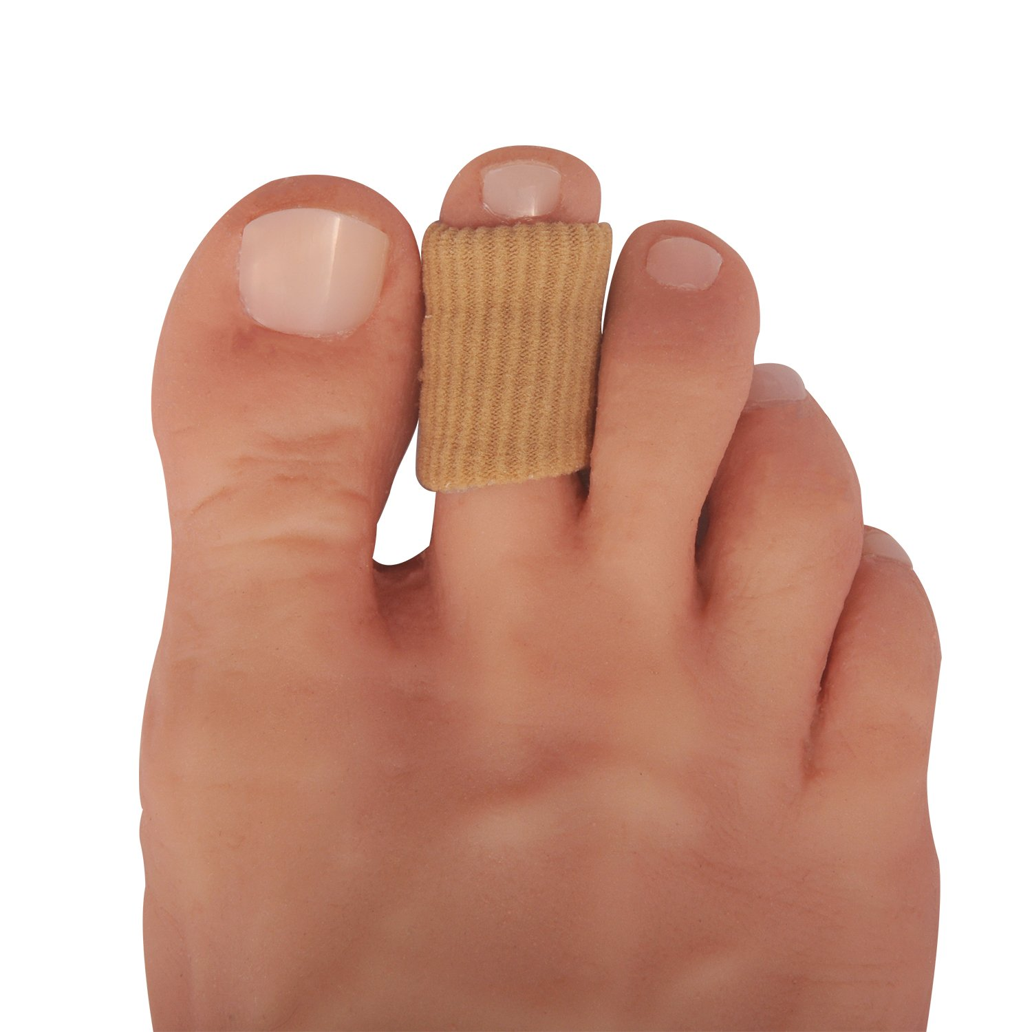 Dr Frederick's Original Fabrigrip Toe Protectors - 2 Multiple-Use Pieces - Toe Covers to Prevent Blisters, Cushion Bunions, More - Small